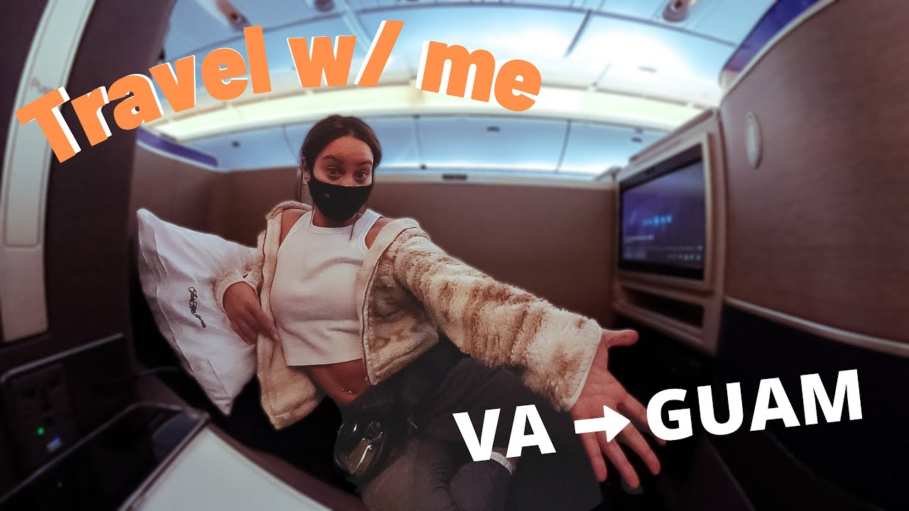 Travel with me (Travel Vlog) IAD to GUAM   feb 2021