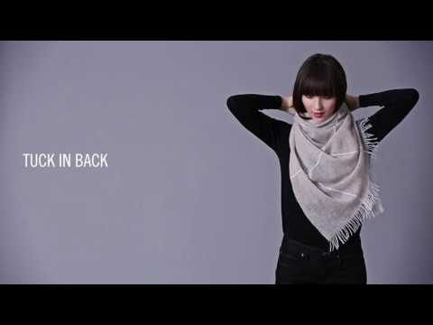 How To Tie A Scarf: EILEEN FISHER Fall 2016