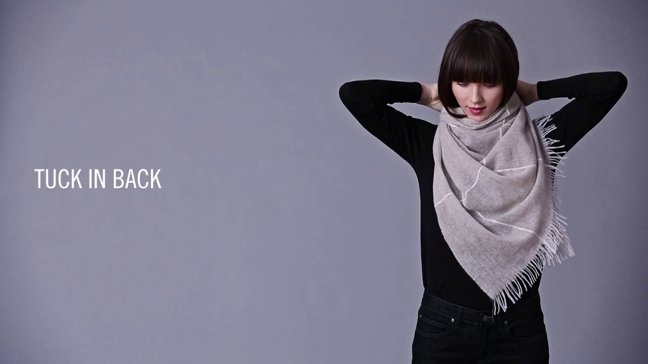 2dbabbe13ee How to Tie a Scarf  EILEEN FISHER Fall 2016 - YouTube