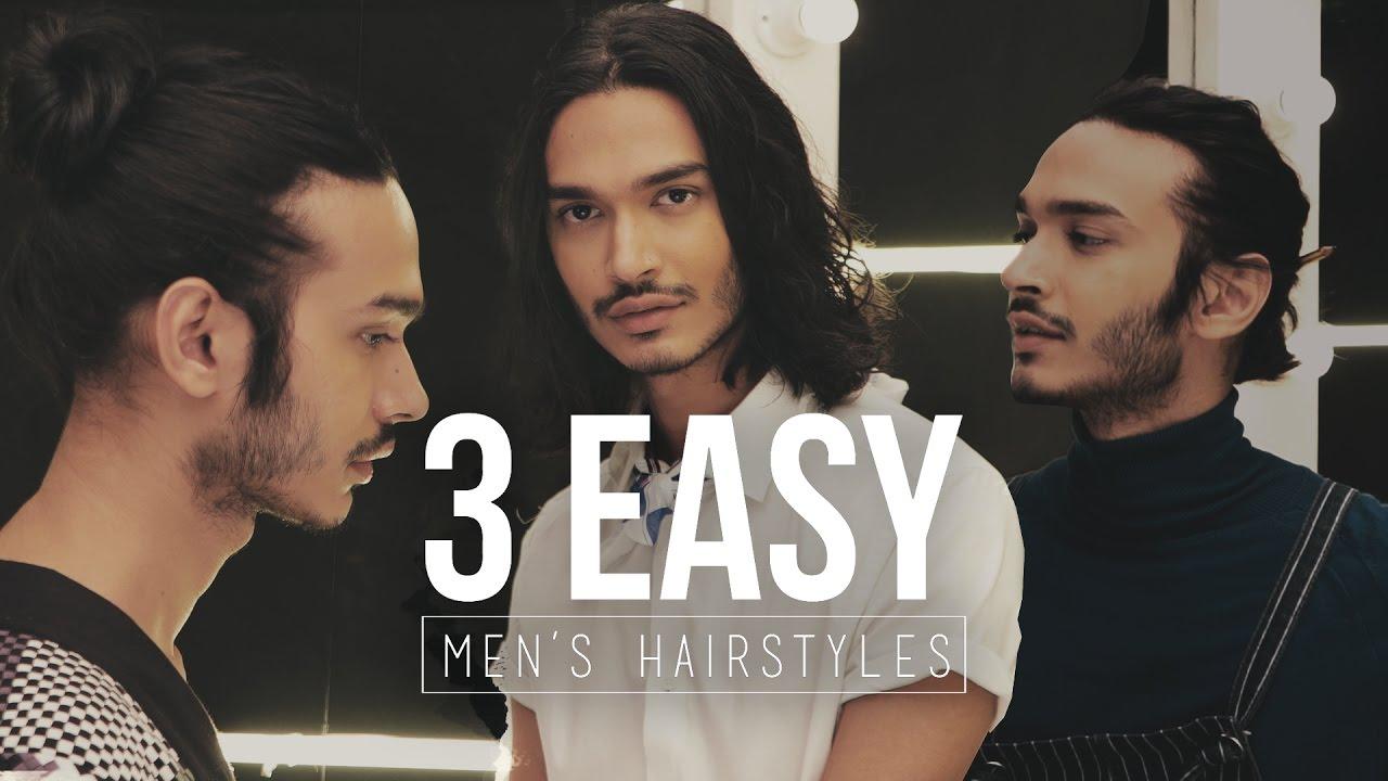 Men S Hair Tutorial How To Style Medium Length Hair Youtube