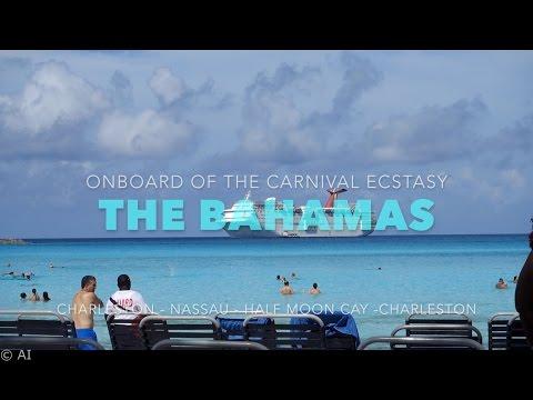 Carnival Ecstasy The Bahamas Jet Ski Submarine HD GoPro Timelapse Charleston Nassau Half Moon Cay