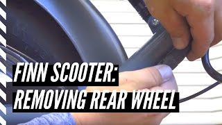 How to remove the rear wheel on a Finn Scooter