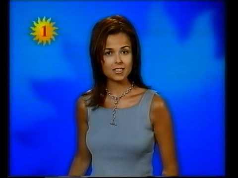 Sophie Dewaele omroepster VRT TV1  april 2000  TV indent   19972002