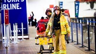 Reacciones ante despiste de avión en Nueva York
