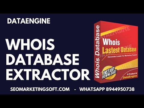 Whois Lead Extractor - Data Extractor - Lead Generation   DataEngine
