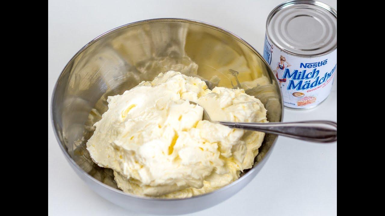 Milchmädchen Buttercreme Schnelle Buttercreme Für Fondant