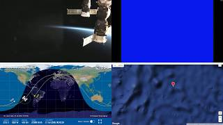 South Pacific Sunset - NASA/ESA ISS LIVE Space Station With Map - 26 - 2018-07-16