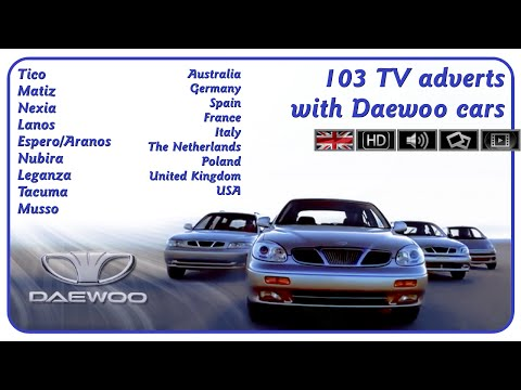 ☾ENG☽ 103 TV adverts with Daewoo from Europe, Australia and the USA! (1994-02)