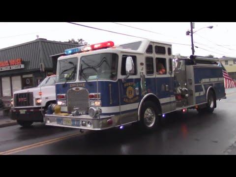 North Arlington, Nj Fire Deparment Engine 1 Responding On Belleville Turnpike