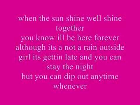 umbrella/cinderella lyrics