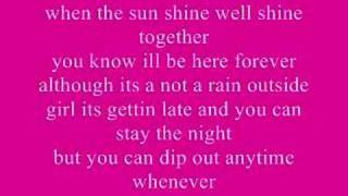 umbrella/cinderella lyrics