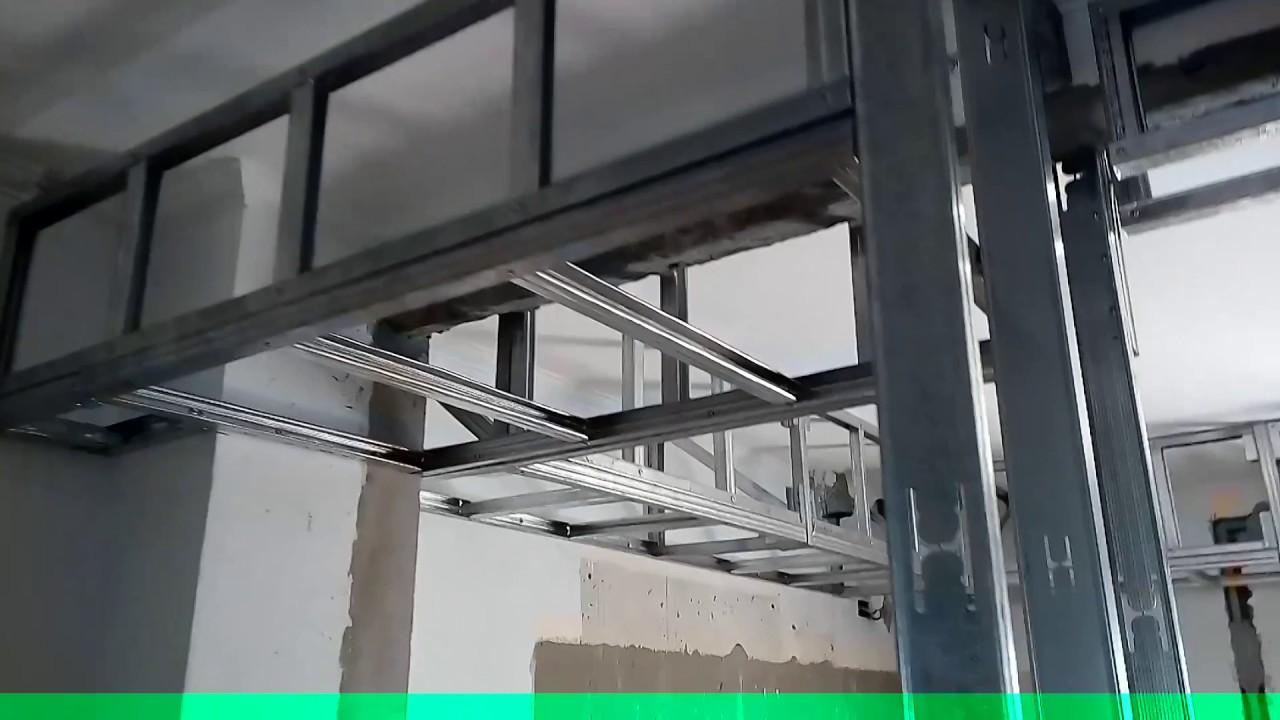 Estructura tipo caj n para placas de yeso youtube - Placas de yeso para pared ...