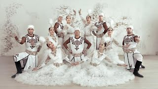 Современный национальный завод жениха и невесты. Кыргызский танец. Свадьба в Бишкеке.