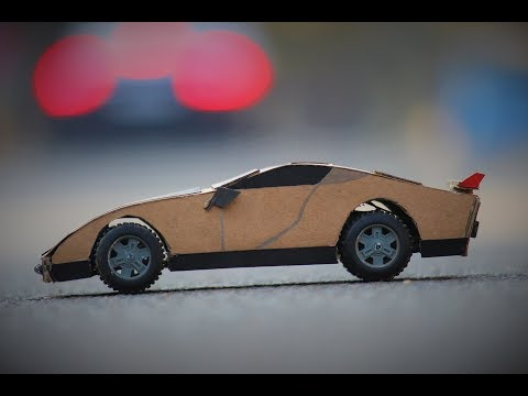 How to make a Simple cardboard Car - RC car - Electric car