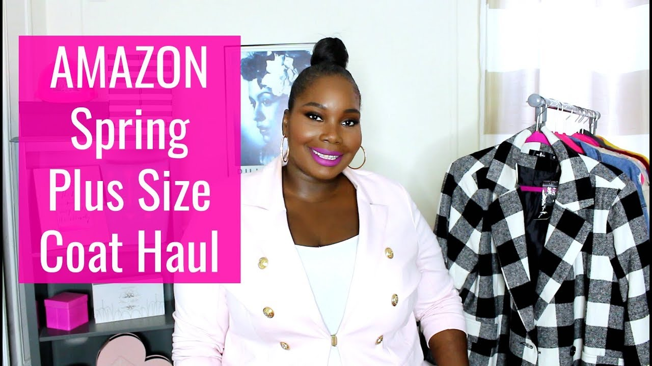 Amazon Plus Size Spring Coat Haul Try Ondresses Jumpsuits Youtube