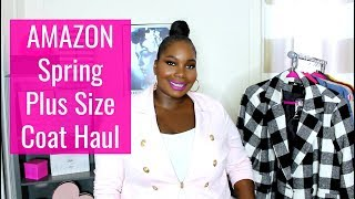 Amazon Plus Size Spring Coat Haul Try On/Dresses, & Jumpsuits