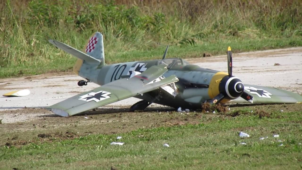 Rc Messerschmitt Bf 109 Crash Youtube