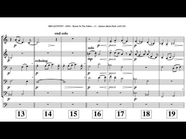 Hymn To The Fallen (Brass Quintet)