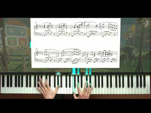 Zelda: Breath of the Wild Tarrey Town piano + sheet music + Synthesia