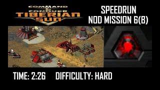 SPEEDRUN: C&C Tiberian Sun Nod Mission 6(B)(Hard). NO GLITCH.