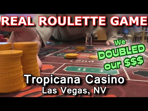 Live Roulette Game #18 - I WON ON EVERY SPIN! - Tropicana Casino, Las Vegas, NV - Inside The Casino