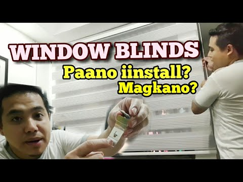 PAANO MAG INSTALL NG WINDOW BLINDS    DIY Home Makeover Philippines