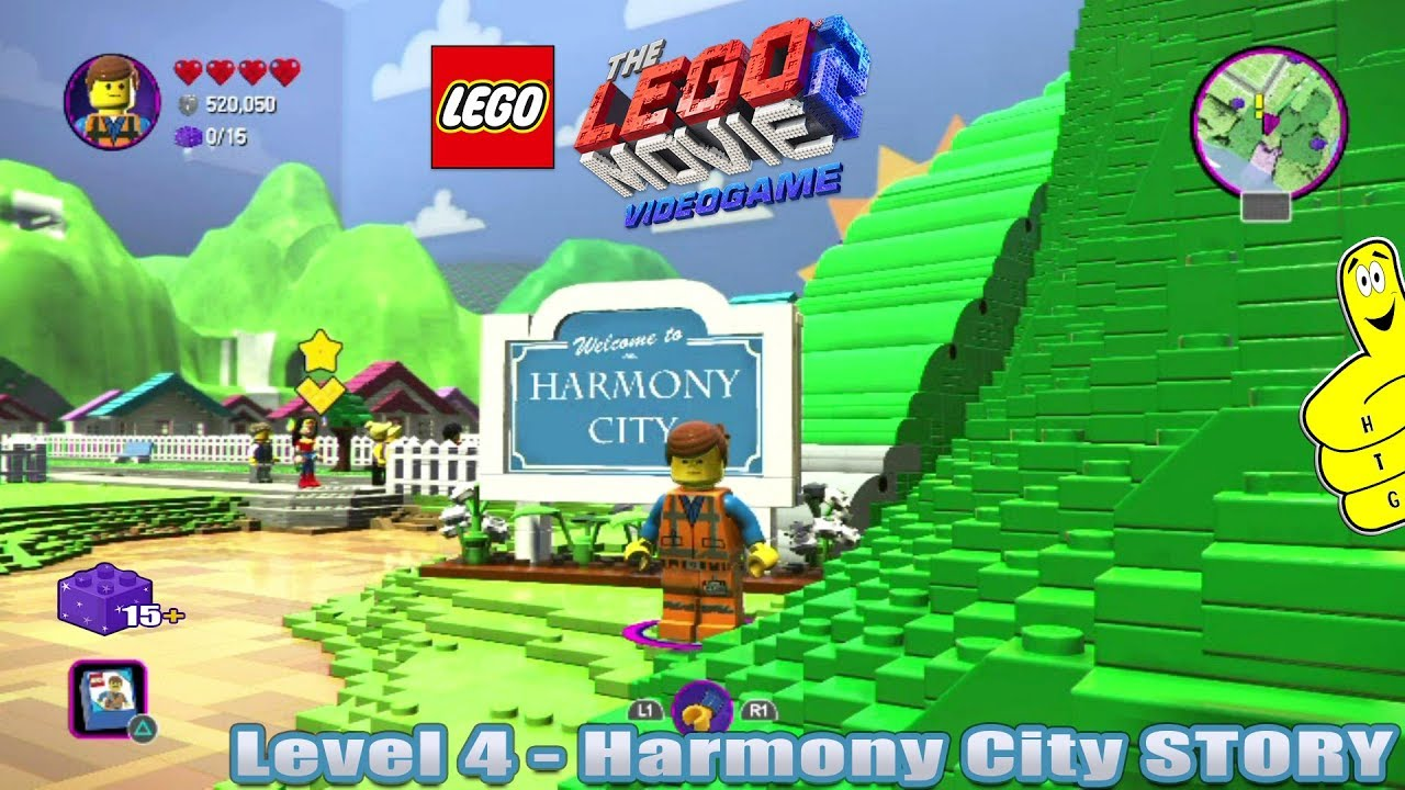 Lego Movie 2 Videogame Lvl 4 Harmony City Story Htg Youtube