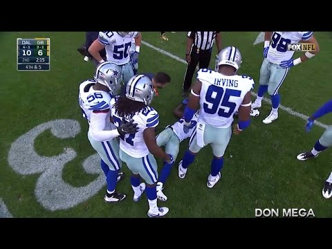 Morris Claiborne Gets Concussed by Friendly Fire HD