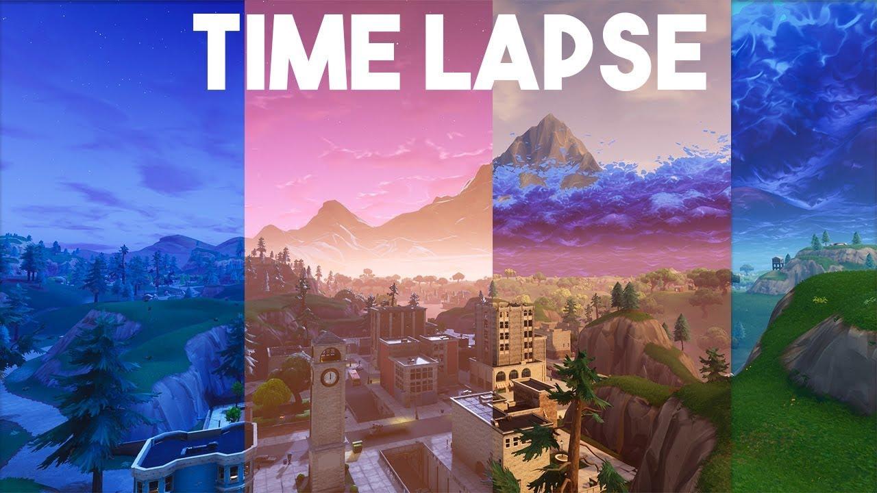 Tilted Towers Full Day Time Lapse Fortnite YouTube