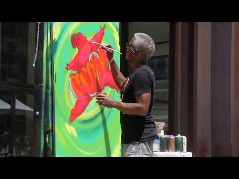 June 21, 2017 / Tyrue Slang Jones - Live Painting At Daley Plaza, Chicago.
