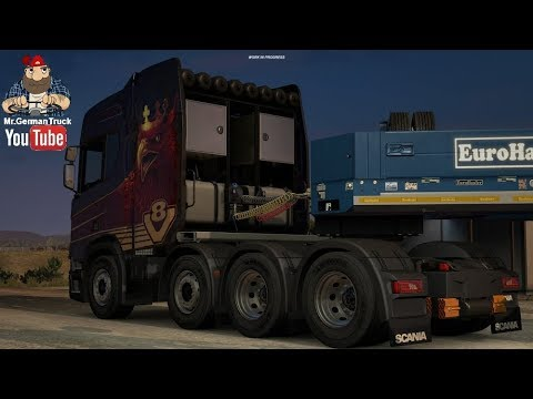 ETS2 Open Beta v1.31 * Trailer Cable + Scania Mighty Griffin + Special Transport*