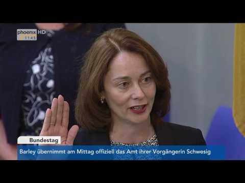 Vereidigung der neuen Familienministerin Katarina Barley am 02.06.17