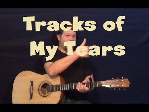Tracks of My Tears (Smokey Robinson) Easy Guitar Lesson How to Play Tutorial