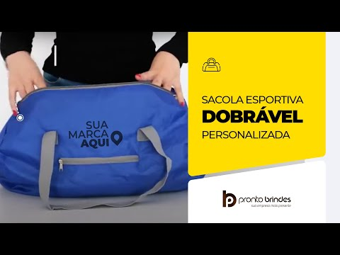 PRONTO BRINDES - SACOLA ESPORTIVA DOBRÁVEL - 92568-004