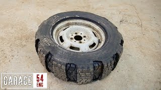 Mounting two tires onto one rim