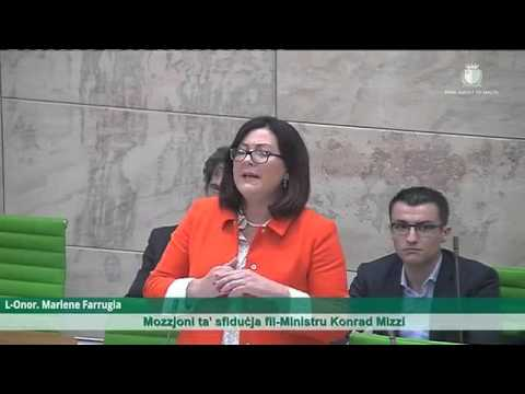 Independent MP Marlene Farrugia speaks in parliament against government corruption - 4/05/16