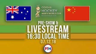 Australia v China | 2018 Men's Hockey World Cup | FULL MATCH LIVESTREAM