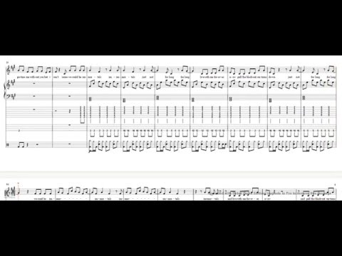 Immortals-Fall Out Boy Vocals/Piano/Violin/Guitar/Bass/Drums Tutorial/Cover Sheet Music