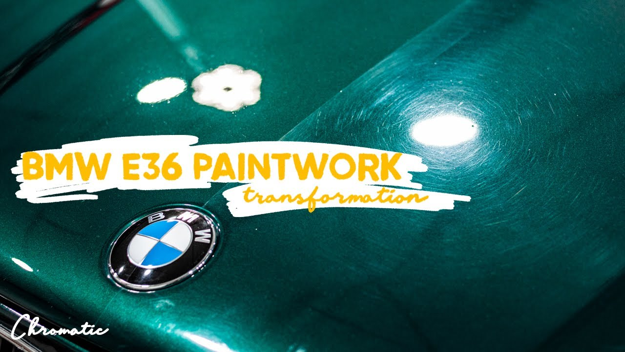 Transforming 26 Year Old BMW E36 Paint - Satisfying Paint Correction
