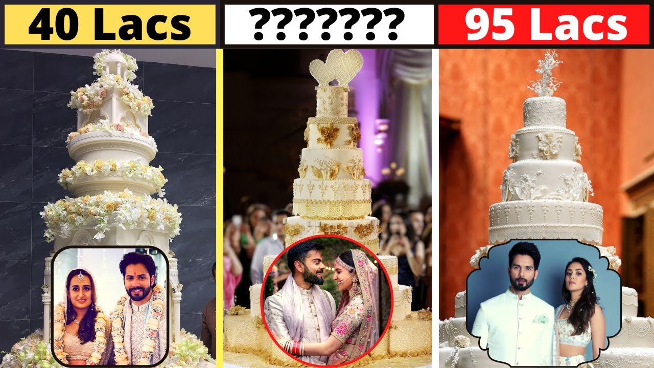 10 Most Expensive Wedding Cakes Of Bollywood Celebrities - Varun Dhawan,Natasha,Anushka Sharma,Virat