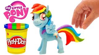 Little pony 💕Play Doh Stop motion videos for children