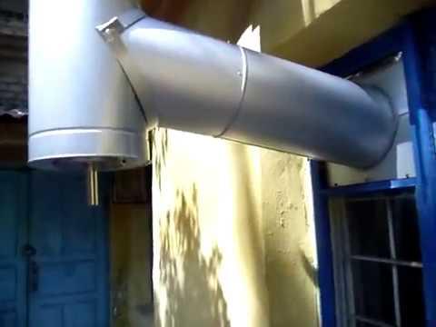 Дымоход выводим в окно дымоход из нержавеющей стали комплект