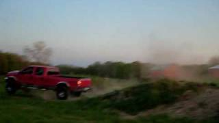 Ford F-250 Diesel Lifted Truck Jump Ramp. Biggest Ever!!