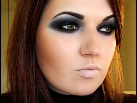Androgynous Dark Eyes Makeup + eyebrows tut - YouTube