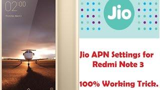jio apn setting in redmi note 3 100 working proof in video hindi tutorial