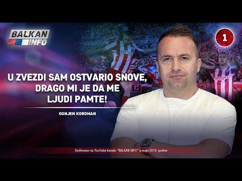 INTERVJU: Ognjen Koroman - U Zvezdi sam ostvario snove, drago mi je da me ljudi pamte! (28.5.2019)