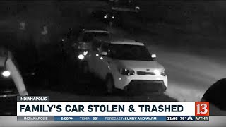 Family's Car Stolen and Trashed