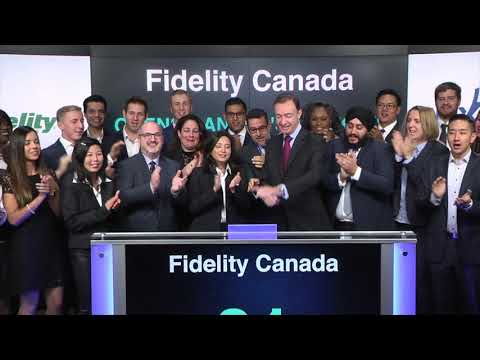 Fidelity Canada opens Toronto Stock Exchange, October 19, 2017