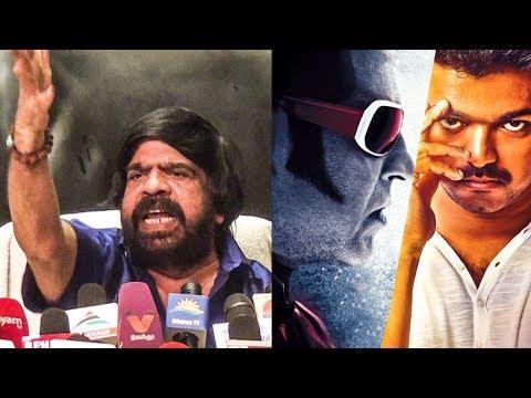 """You will raise voice against Vijay but not Superstar Rajinikanth"" -TR Angry Speech |GST |TN 191"