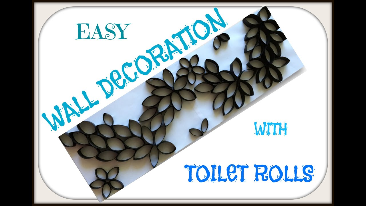 Homemade Wall Art Made With Toilet Rolls. Reuse Toilet Rolls For Home Wall  Decoration.